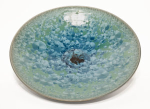 "SOLD Bowl (BB-4247) by Bill Boyd crystalline-glaze ceramic – 16"" (W) $650"