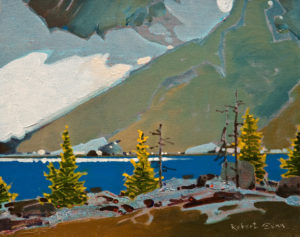 "SOLD ""Across McArthur Lake Toward Mount Biddle Glacier,"" by Robert Genn 11 x 14 – acrylic $3600 Unframed"