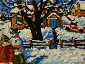 """Another Frosty Corner,"" by Rod Charlesworth 6 x 8 - oil $560 Unframed $650 Custom framed"