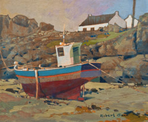 "SOLD ""At Trevignon Point, Brittany"" (circa 1982),  by Robert Genn 10 x 12 – acrylic $3500 Unframed"