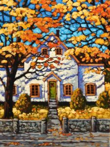 "SOLD ""Autumn Light, Halifax,"" by Rod Charlesworth 18 x 24 – oil $2100 Unframed"