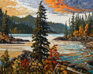 """Autumn Light, Sooke Inlet,"" by Rod Charlesworth 24 x 30 - oil $2890 Unframed"