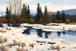 "SOLD ""Between Seasons,"" by Merv Brandel 20 x 30 – oil $2960 Unframed"