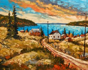 """Charlevoix Autumn,"" by Rod Charlesworth 24 x 30 - oil $2890 Unframed"