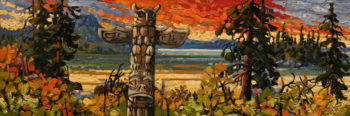 """Coastal Sunset - Haida Gwaii,"" by Rod Charlesworth 8 x 24 - oil $1570 Unframed"