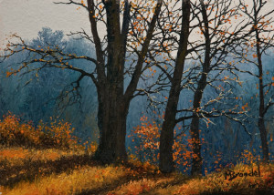 "SOLD ""The Common,"" by Merv Brandel 5 x 7 – oil $790 Unframed"