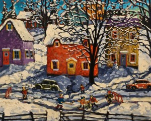 "SOLD ""A December Sunday,"" by Rod Charlesworth 16 x 20 – oil $1715 Unframed"