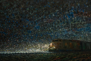 """The Engine,"" by Steve Coffey 24 x 36 - oil $2640 Unframed"