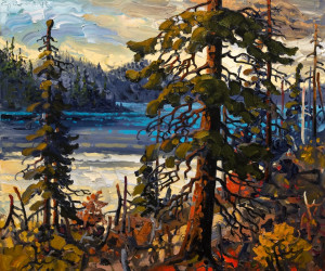 """Evening Light, Northern B.C.,"" by Rod Charlesworth 20 x 24 - oil $2195 (thick canvas wrap without frame)"