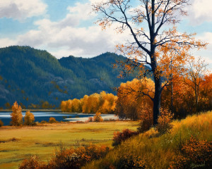 "SOLD ""Fall Meadow,"" by Merv Brandel 16 x 20 – oil $2525 Unframed"