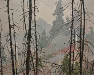 "SOLD ""The Fog Lifts,"" by Robert Genn 16 x 20 – oil $6000 Unframed"