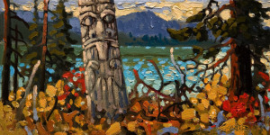 "SOLD ""Haida Gwaii,"" by Rod Charlesworth 6 x 12 – oil $750 Unframed"