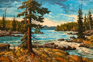 "SOLD ""Haida Inlet,"" by Rod Charlesworth 28 x 42 - oil $4320 Unframed"
