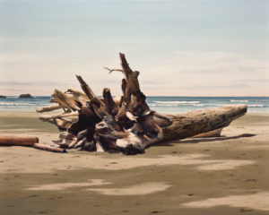 "SOLD ""High Tide Treasure,"" by Merv Brandel 24 x 30 – oil $4400 (thick canvas wrap with painted edges)"