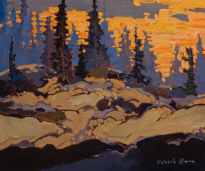 "SOLD ""Late Light,"" by Robert Genn 10 x 12 – acrylic $3200 Unframed"