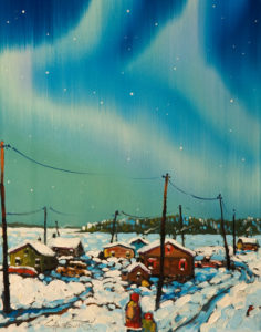 """Living Lights, N.W.T.,"" by Rod Charlesworth 11 x 14 - oil $1220 Unframed $1370 Custom framed"