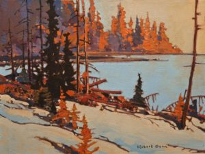 "SOLD ""The Magic Hour, Koskimo,"" by Robert Genn 12 x 16 – acrylic $4700 Unframed"
