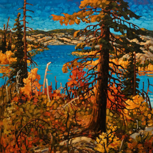 "SOLD ""Nicola, The Golden Season,"" by Rod Charlesworth 30 x 30 – oil $3295 Unframed"