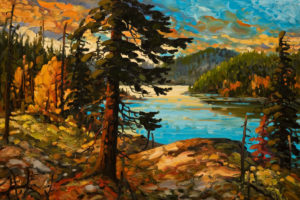 """North Coast Inlet,"" by Rod Charlesworth 24 x 36 - oil $3295 Unframed"