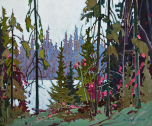 "SOLD ""Northern Tapestry,"" by Robert Genn 20 x 24 – acrylic $8100 Framed"