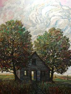 "SOLD ""Passing Through,"" by Steve Coffey 36 x 48 – oil $3700 Unframed"