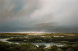 "SOLD ""Prairie Wetlands,"" by Mark Fletcher 24 x 36 – acrylic $2530 Unframed"
