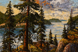 "SOLD ""Princess Louisa Inlet,"" by Rod Charlesworth 22 x 33 – oil $2800 Unframed"