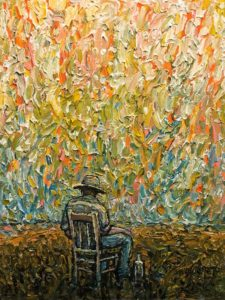 "SOLD ""The Rest - End of Day,"" by Steve Coffey 12 x 16 - oil $1230 Unframed"