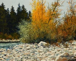 """River Stones,"" by Merv Brandel 8 x 10 - oil $900 Unframed $1150 Custom framed"