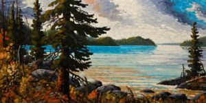 """September, Clayoquot Sound,"" by Rod Charlesworth 24 x 48 - oil $4390 Unframed"