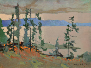 "SOLD ""Sombre Aspect, Saturna Island,"" by Robert Genn 12 x 16 – acrylic $4300 Unframed"