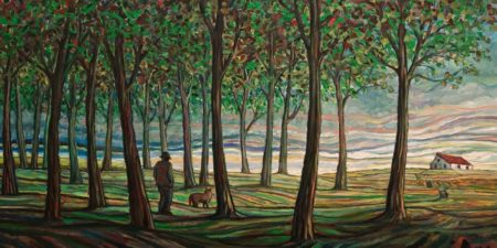 """The Sound,"" by Steve Coffey 24 x 48 - oil $3170 Unframed"