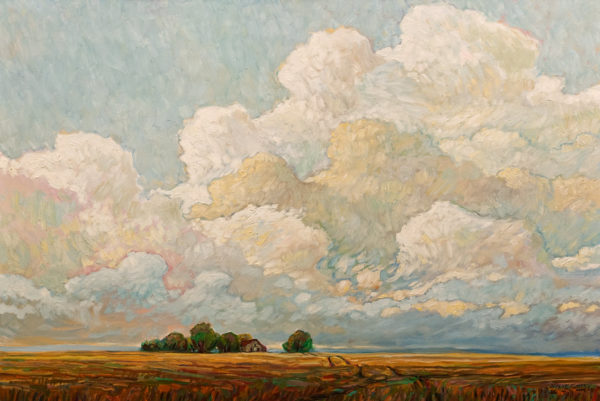 """Summer Clouds Over Farm,"" by Steve Coffey 24 x 36 - oil $2640 Unframed"
