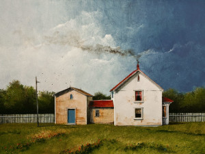 "SOLD ""The Summer Farm,"" by Mark Fletcher 18 x 24 – acrylic $1900 Unframed"