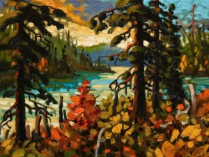"""Through to Crooked Lake,"" by Rod Charlesworth 9 x 12 - oil $905 Unframed"