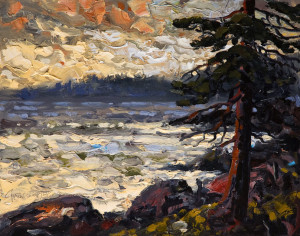 "SOLD ""Ucluelet, Late Light,"" by Rod Charlesworth 11 x 14 – oil $1220 Unframed"