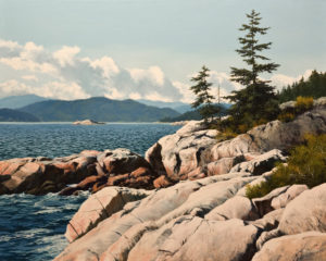 "SOLD ""West Shore,"" by Merv Brandel 24 x 30 – oil $4175 Unframed"