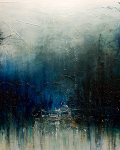 "SOLD ""Ache For It,"" by Laura Harris 48 x 60 – acrylic $9090 (thick canvas wrap without frame)"