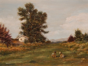 """Afternoon Play,"" by Don Li 6 x 8 - oil $750 Unframed"