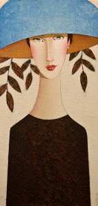 "SOLD ""Alissa,"" by Danny McBride 10 x 20 – acrylic $1300 Unframed"