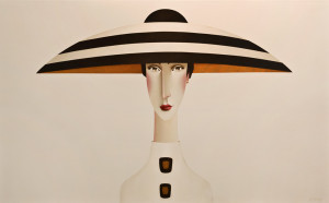 "SOLD ""Aria in White,"" by Danny McBride 30 x 48 – acrylic $4750 (thick canvas wrap without frame)"