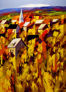 """Autumn Unfolds,"" by Christian Bergeron 30x42 - acrylic $2830 Unframed"
