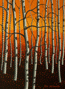 """Autumn Aspens No. 2,"" by Peter McConville 9 x 12 - acrylic $650 Unframed $820 Custom framed"