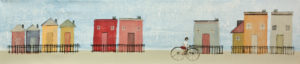 "SOLD ""Beach House,"" by Louise Lauzon 8 x 36 – acrylic $770 Unframed"