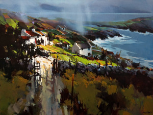 "SOLD ""Break of Light, Donegal,"" by Michael O'Toole 30 x 40 – acrylic $4300 Unframed"