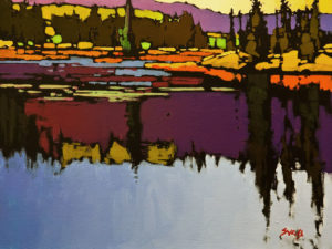 """Cariboo Lake Pattern,"" by Mike Svob 12 x 16 - acrylic $1415 Unframed"