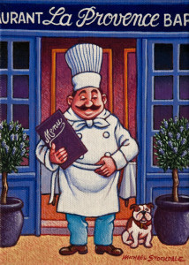 """The Chef,"" by Michael Stockdale 6 x 8 - acrylic $325 Unframed"
