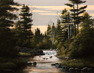 """Day's Fading Light,"" by Bill Saunders 16 x 20 - acrylic $1900 Unframed"