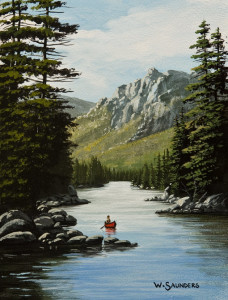 """Down the River,"" by Bill Saunders 6 x 8 - acrylic $500 Unframed $685 Custom framed"