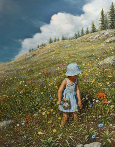 "SOLD ""Finding Every Colour,"" by Don Li 22 x 28 - oil $4750 Unframed"